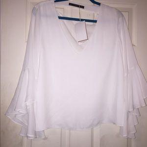 Zara drop down back blouse